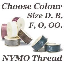 Nymo Thread Size D, B, F, 0, 00, Beading Cord for Jewellery Making x1 Bobbin
