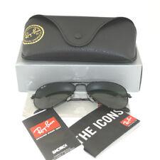 Ray Ban RB 3025 Aviator W3235 Black Frame/ Green Classic G-15 Glass Lens 55mm