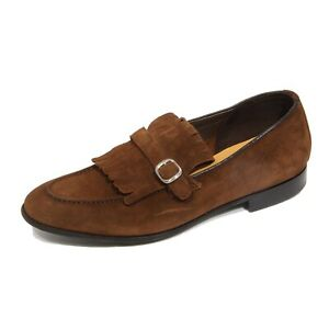 G4522 mocassino uomo GREEN GEORGE brown suede loafer shoe man