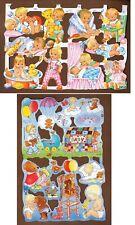 Vintage Baby Theme Scrap Reliefs Decoupage Jeanne De Gooyer Crafts Retro 1997