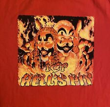 VTG Insane Clown Posse ICP Mens Graphic T-Shirt XL Red Hell's Pit Double Sided