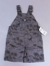OshKosh Bgosh Boys Dinosaur Canvas Shortalls AN3 Gray...