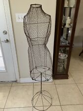Vintage Early Century 1900s Metal Wire Dress Form Mannequin