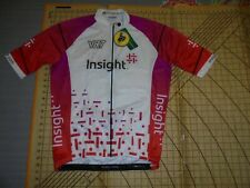 WOMENS 2XL SAFETTI WHITE/PINK/RED INSIGHT VR7 CYCLE JERSEY - NWT
