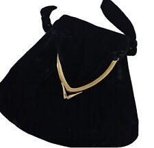 Vintage 40s Velvet Evening Bag In Excellent Condition