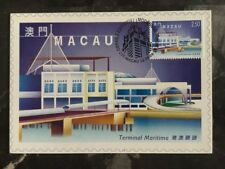 1999 Macau PostCard Exhibition Cover maritime terminal 2,5 Pataca Stamp