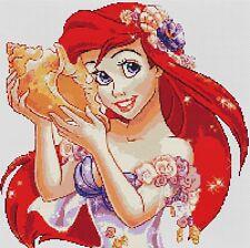 Ariel la sirena 4 puntada cruzada contada Kit de TV/cine personajes de dibujos animados de Disney