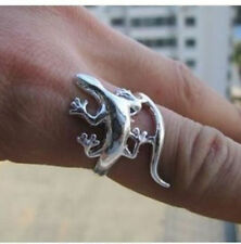 tibet Tribal silver style carved Lizard rings
