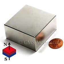 "N50 Neodymium Magnet 2x2x1"" NdFeB Rare Earth Magnets Block 4 PC"