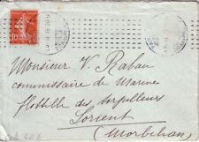 PARIS XX-MACHINE CHAMBON SUR 10c SEMEUSE 15-3-1913