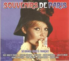 SOUVENIRS DE PARIS - 2 CD BOX SET - BRIGITTE BARDOT * EDITH PIAF & MORE