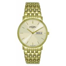 Rotary GBI02624/03/DD Gold Plated Stainless Steel Dress Watch Day/Date RRP £189