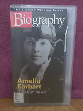 Amelia Earhart Queen Of The Air A&E Biography 1996 VHS Video Aviator Documentary