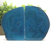 Blue/Green Agate Bookend Geode Crystal Polished 2.95 lb (AB252)E