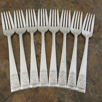 National Silver Inaguration Set 8 Dinner Forks Silverplate Flatware Lot B