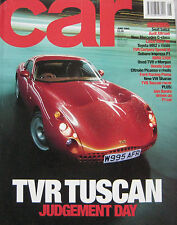 CAR 06/2000 featuring TVR, Toyota MR2, Mazda MX-5, MGF, Subaru P1, Morgan, Ford
