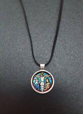 """Jésus Crucifixion Pendentif sur un 18"""" Noir cord Collier Cadeau Idéal N349"""