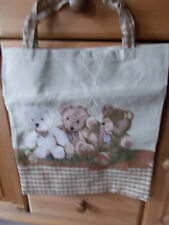 Gobelin Tasche Einkaufstasche Sporttasche Shopper ♥ Bärenfamilie  NEU