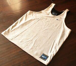 Vintage Nike Reversible Practice Basketball Jersey White Black Size XL