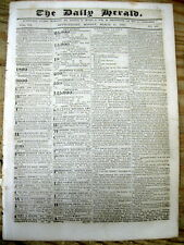 1839 newspaper with th very BEGINNING of the US idea to BUILD the PANAMA CANAL