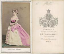Reutlinger, Paris, Adelina Patti CDV vintage albumen Tirage albuminé aqu