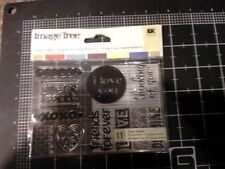 Friends Image Tree card set Clear Stamps -  RARE - Yellowed - Ek success