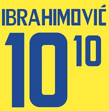 La svezia IBRAHIMOVIC Nameset maglia calcio Numero Lettera di calore stampa football 2008 H
