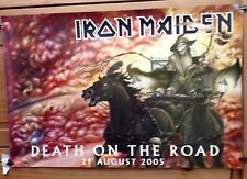 Iron Maiden Double Sided Promo Poster Death On The Road/Metalogue 76cm x 51cm