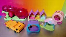 (6) Different LPS Hasbro Littlest Pet Shop Playset Hamster Bear Cub Accessories