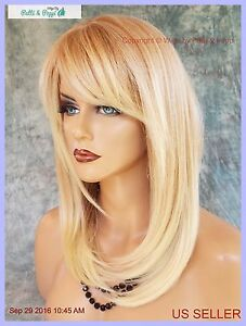 LARGE CAP LONG  WIG HEAT SAFE SKIN TOP✯COLOR T27.613  STRAIGHT CLASSY STYLE 1072