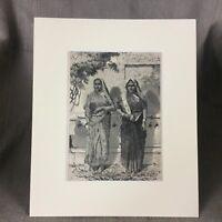 1890 Antique Indian Print Hindu Women Colonial British India Raj Empire
