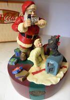 Coca Cola Santa Scatola Musicale Figurina Père Natale 1964 Scatola A Musica