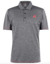 Adidas Herren Golf Sport Tennis Polo Shirt Grau Rot Größe XL oder XXL Neu