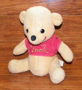 "Vintage Walt Disney 12"" Tall Winnie the Pooh Plush Teddy Bear Stuffed Animal"