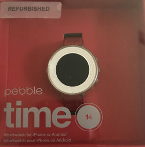 Pebble Time Round 14mm, Smartwatch iPhone Or Android.