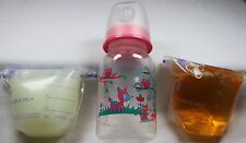 Reborn Doll Baby Bottle Fake Formula Milk & Bag Faux Apple Juice OOAK Set