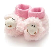 Hansen Plüsch Schaf Babyschuhe Mädchen weich pink rosa Gr. 18, Baby 6-12 Monate