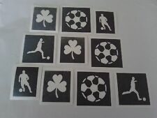 30 x Irish themed football stencils for glitter tattoos Euros 2016  Ireland