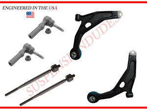 6PC Control Arms Tie Rod Ends Dodge Avenger Journey Chrysler 200 Sebring