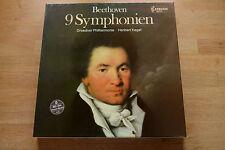 BEETHOVEN  9 Symphonien KEGEL Dresdner Philharmonie / 8 Kassetten Box Capriccio