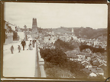 Suisse, Fribourg, La Ville Haute  Vintage silver print.  Tirage argentique d&#