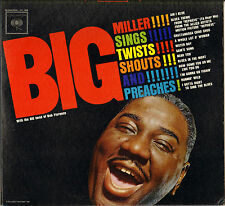 "RARE BIG MILLER ""TWIST SHOUTS & PREACHES"" BLUES VOCAL JAZZ 60'S LP COLUMBIA 8608"