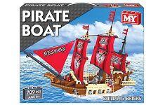 La mia nave pirata 706pc barca con vele Rosso blocchi mattoni BLOCCHI giocattolo costruire