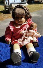 Vintage Heidi Ott Artist Doll Lucie & Baby  #2483 - 1980's - Original box/paperw