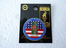 "Vintage 1996 Atlanta ""Centennial Olympic Games"" stylized Flag & Flame pin"