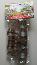 54mm American Revolution Cannon & Mortar Set 8 Pcs Plastic Toy Soldiers