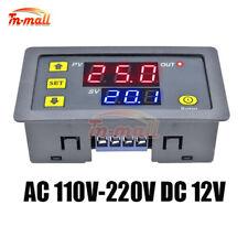 12V 110V-220V LED Dual Display Cycle Timing Delay Timer Relay Module 0-999 Hours