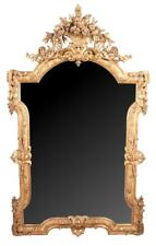 19th century Venetian gold gilt mirror with arched pediment having a . Lot 229