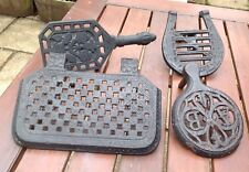 4 Cast Iron Fireplace Trivet Antique Victorian Cooking Range Accessories AGA