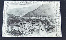 CARTOLINA AOSTA ISSIME GRAND HOTEL MONT NERY RARA VIAGGIATA 1915 SUBALPINA ZZ